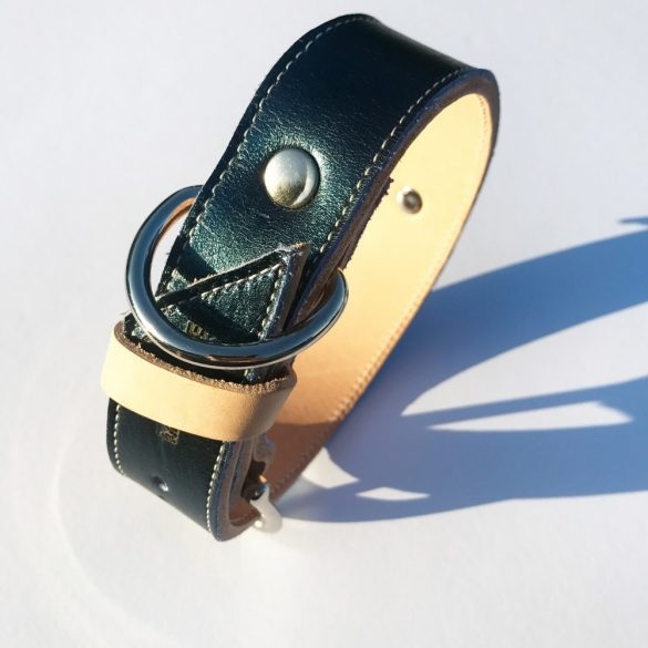 American collection, narrow emerald green leather collar