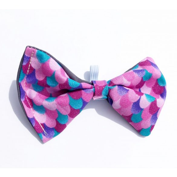 Mermaid scale fabric bow