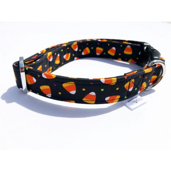 Candy Corn állíthatós anyag nyakörv - Candy Corn adjustable fabric collar