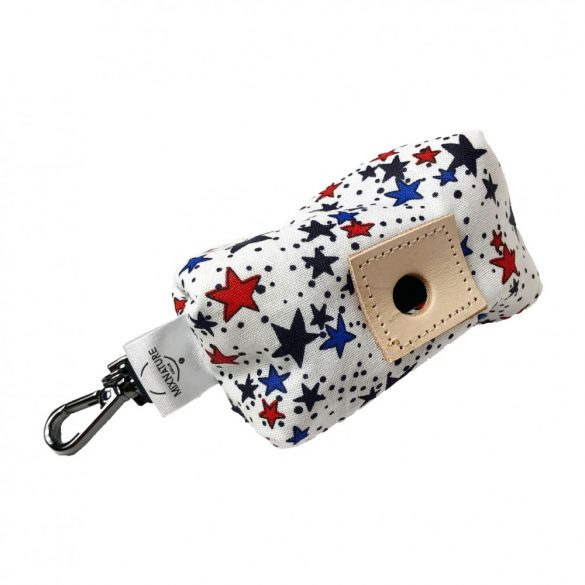 July 4th fabric poop bag holder with stars