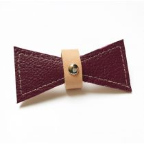 Bőr bordó masni - leather claret bow