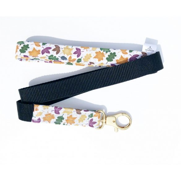 Ôszi leveles anyag póráz - Fall leafs fabric leash