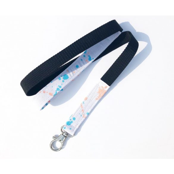 Splashed fabric leash
