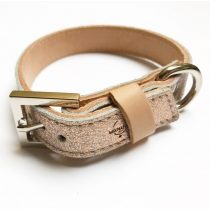 Spring collection-Hologram strait leather collar
