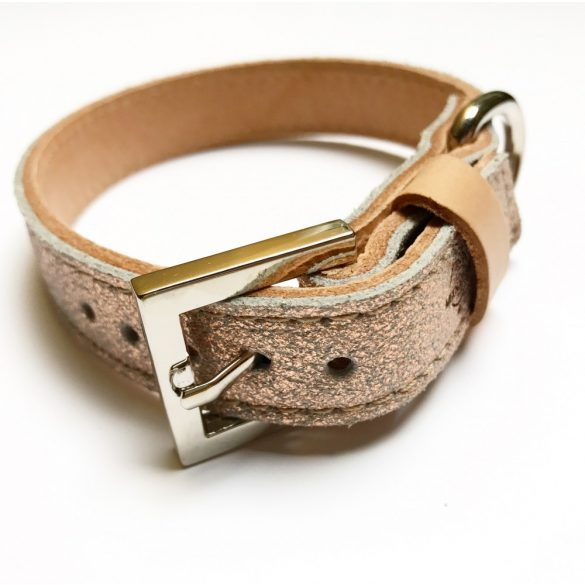 Tavaszi kollekció-Hologrammos keskeny bőr nyakörv, Spring collection-Hologram strait leather collar