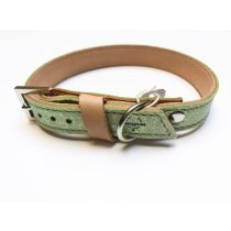 Őszi kollekció-zöld keskeny bőr nyakörv, Autumn collection-green strait leather collar