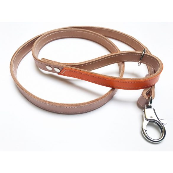 Őszi kollekció - Narancssárga bőr póráz, Autumn collection - orange leather leash