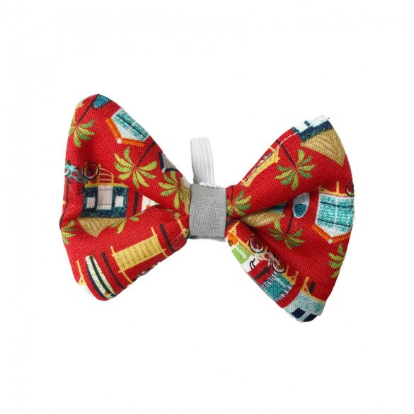 Hawaii house on red  fabric bow