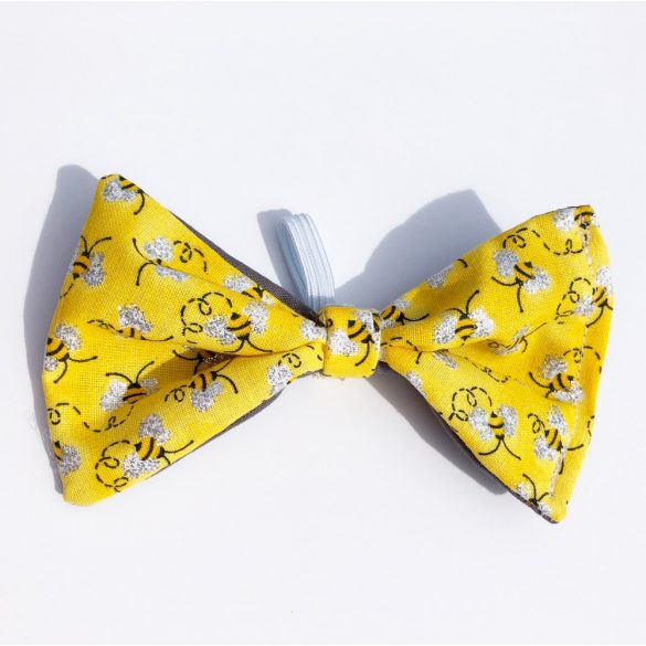 Bee fabric bow