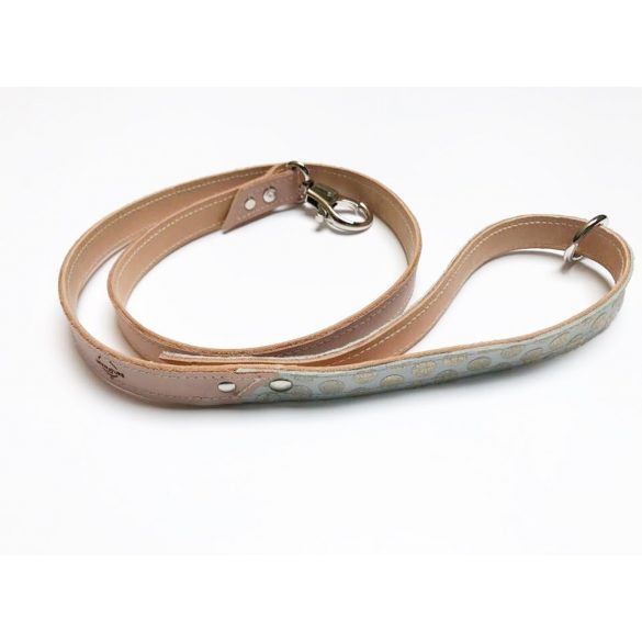 Spring collection-gold fleck leather leash
