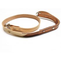Tavaszi kollekció-Bronz bőr póráz, Spring collection-bronze leather leash