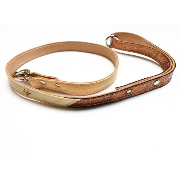 Spring collection-bronze leather leash