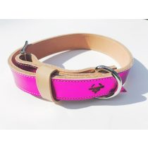 American collection, wide dark pink leather collar