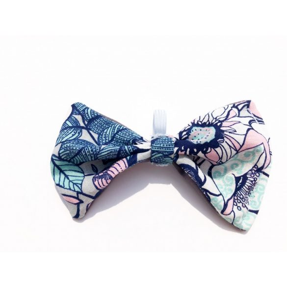 Fabric flower bow