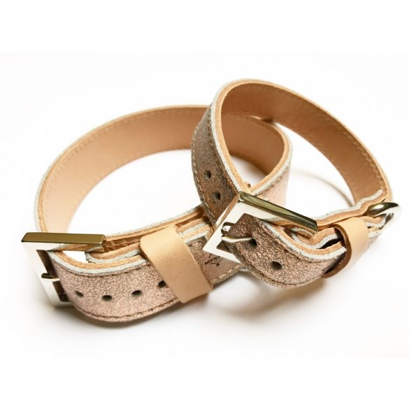 Spring collection-Hologram wide leather collar