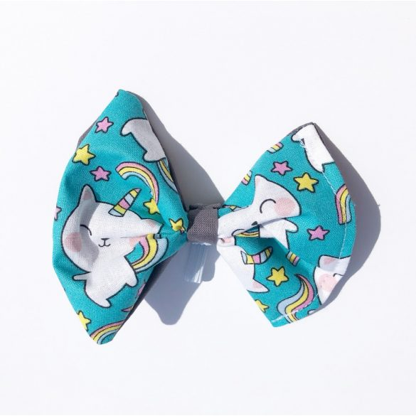 Unicorn cat fabric bow