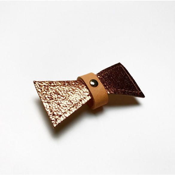 Bőr bronz masni - leather bronze bow