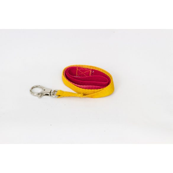 Sárga-piros ombre nyakörv, Yellow-red ombre leash - 83 cm
