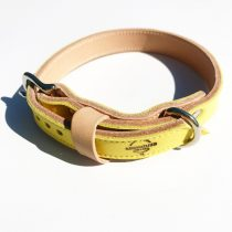 Amerikai kollekció, keskeny sárga bőr nyakörv - American collection, narrow yellow leather collar