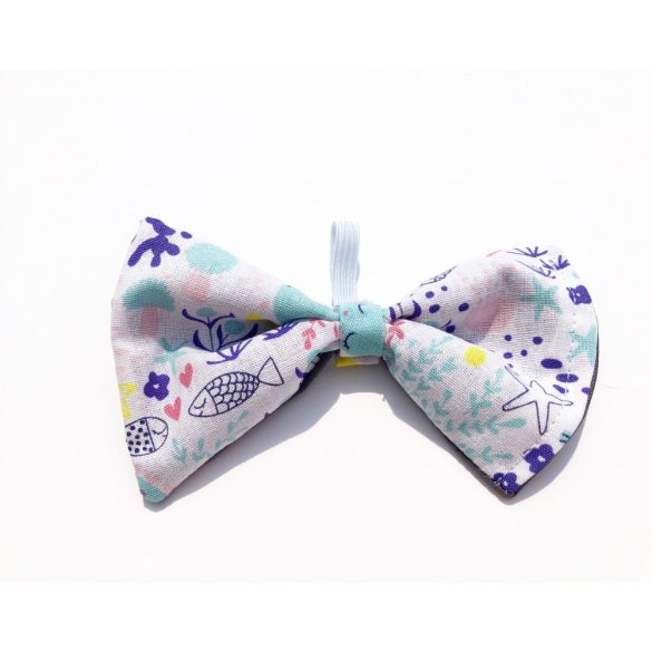 Underwater world fabric bow