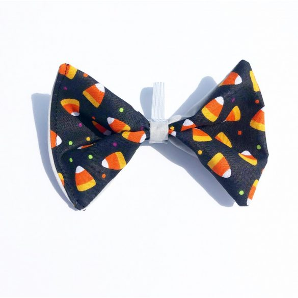 Candy corn fabric bow