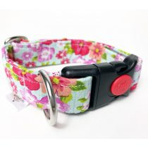 fabric  with flowers collar