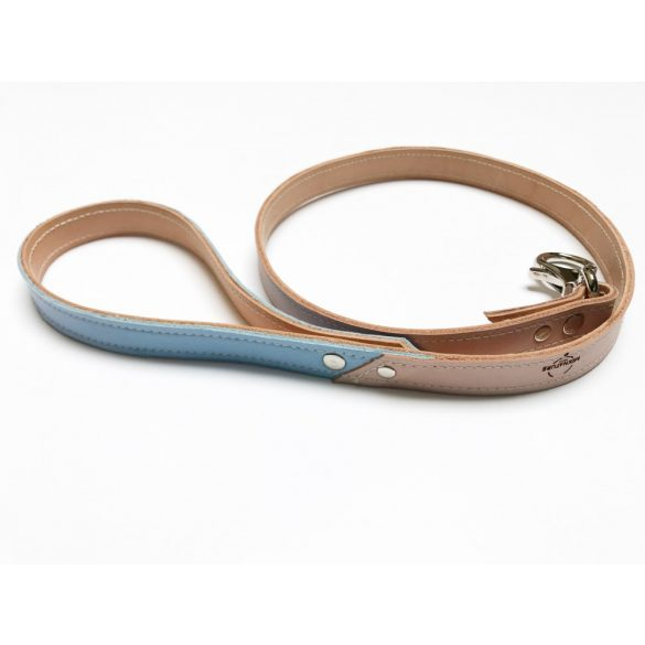 Spring collaection- light blue leather leash