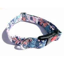 Flower pattern fabric collar