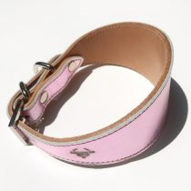 Pink greyhound collar