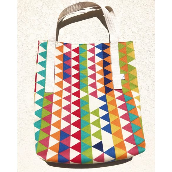 Colorful triangle tote bag