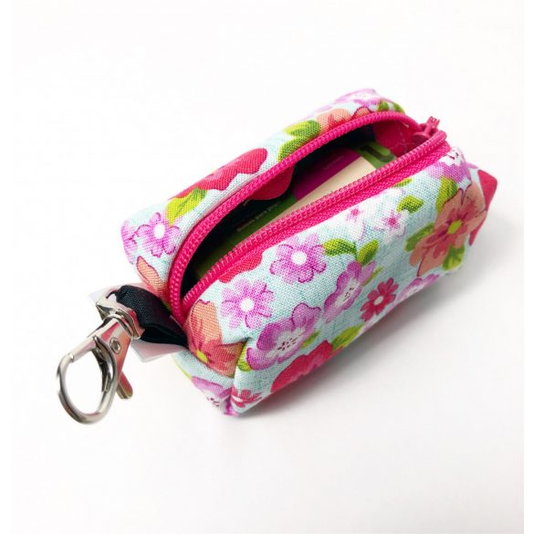 Fabric flower poop bag holder