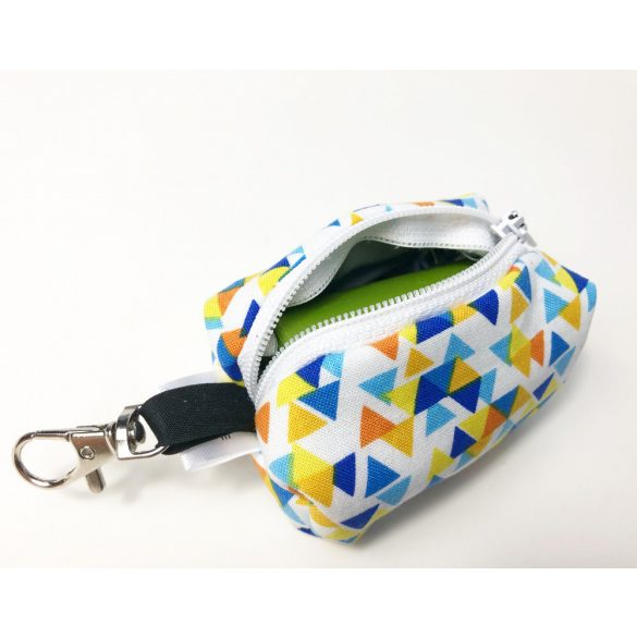 Fabric triangle  poop bag holder