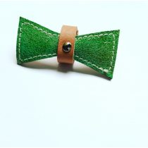 Bőr sellő zöld masni - leather mermaid green bow