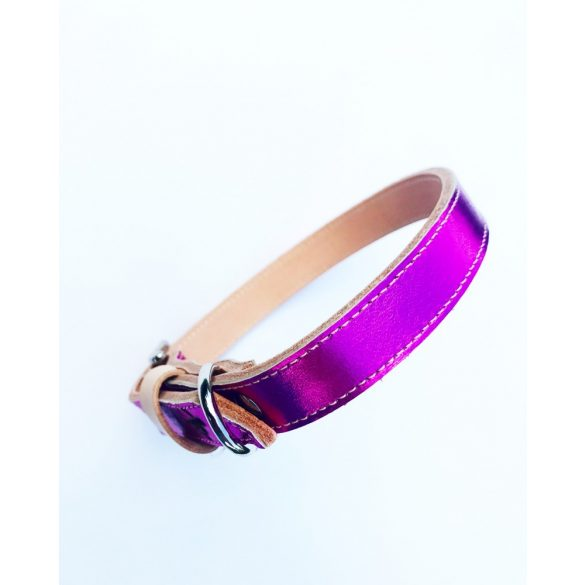 American collection, dark pink leather collar
