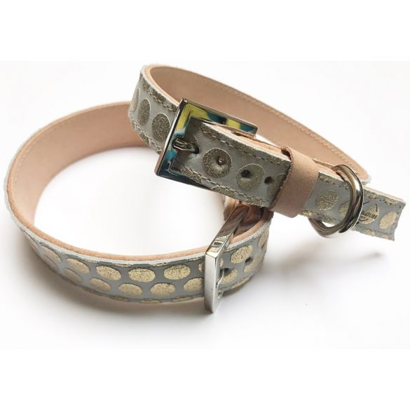 Spring collection-Gold fleck strait leather collar